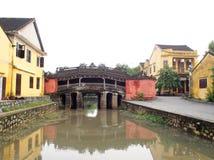 中国日本桥梁在会安市,一个世界文化遗产地方在越南 免版税库存图片