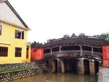中国日本桥梁在会安市,一个世界文化遗产地方在越南 免版税库存照片