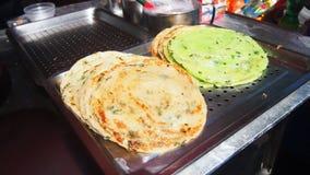 中国春天葱绿色薄煎饼 库存图片