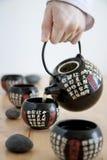 中国服务茶 免版税库存图片