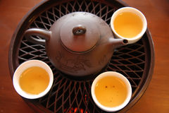 中国服务茶 免版税库存照片