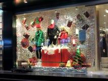 中国服装店门面圣诞节装饰 库存图片