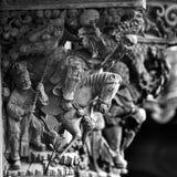 中国木头雕刻 图库摄影