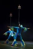 中国杂技演员。 Shantu杂技马戏团。 免版税库存照片