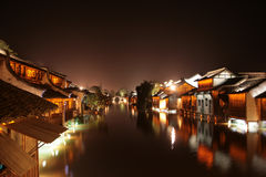 中国村庄水 图库摄影