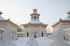 中国村庄的亭子观测所在Tsarskoye Selo 库存照片