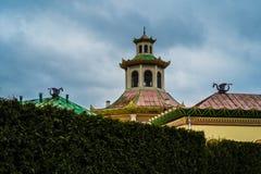 中国村庄, Tsarskoe Selo,普希金,圣彼得堡 库存图片