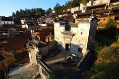 中国村庄黄陵在阳光下 图库摄影