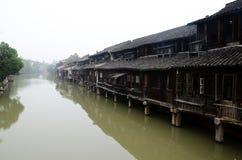 中国村庄水 免版税库存照片