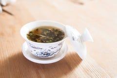中国杯子和茶文化 免版税库存图片