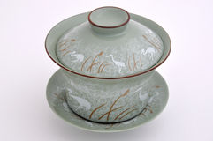 中国杯子绘画集合样式茶 免版税图库摄影