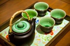 中国杯子茶壶 免版税库存图片