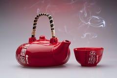 中国杯子茶壶 免版税库存照片