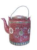 中国查出的茶壶 免版税库存图片