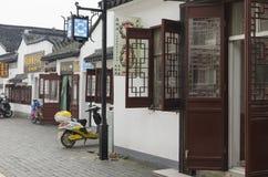 中国核雕刻的村庄 库存照片