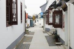 中国核雕刻的村庄 免版税库存图片
