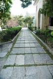 """中国桂林李Tsung仁爱路的住所-,当共和国""""总统府'照片汇集的十三--庭院道路 库存图片"""