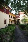 """中国桂林李Tsung仁爱路的住所-,当共和国""""总统府'照片汇集的十二--庭院道路 库存照片"""