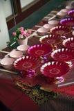 中国桌装饰 库存照片