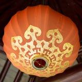 中国橙色lampion 免版税图库摄影