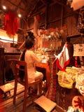 中国歌剧执行者准备 免版税库存图片