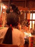 中国歌剧执行者准备 免版税库存照片