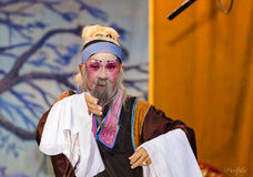 中国歌剧,表现的演员 免版税图库摄影