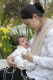 中国母亲儿子 免版税库存照片