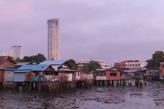 中国氏族跳船公共槟榔岛,马来西亚 免版税库存照片
