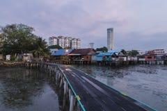 中国氏族跳船公共槟榔岛,马来西亚 库存图片