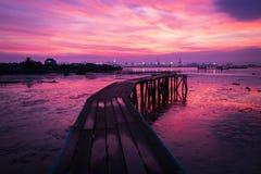 中国氏族跳船码头乔治城,槟榔岛 库存照片