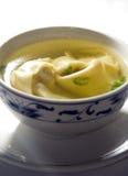 中国汤馄饨 免版税图库摄影