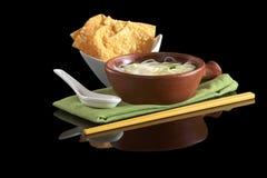 中国油煎的汤面馄饨 免版税库存图片
