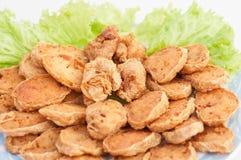 中国油煎的虾 库存照片