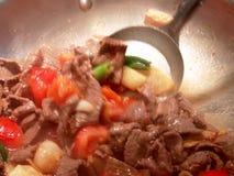 中国油煎的铁锅 库存图片