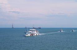 中国海监视巡逻南海 免版税图库摄影