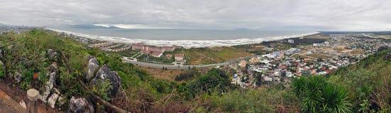 中国海滩全景在岘港市,越南 免版税库存照片
