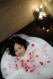 中国温泉妇女 免版税库存照片