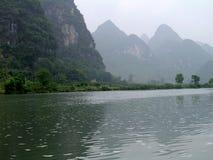 中国湖 免版税图库摄影