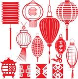 中国灯笼收藏 向量例证