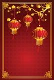 中国灯笼模板 皇族释放例证