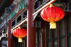中国灯笼红色 免版税图库摄影