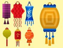 中国灯笼纸假日庆祝图表庆祝灯传染媒介例证 皇族释放例证
