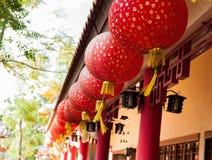 中国灯笼纸张红色 库存照片