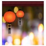 中国灯笼背景-例证 免版税库存照片