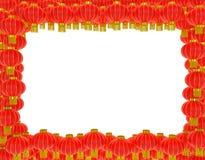 中国灯笼背景 免版税库存图片