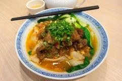 中国炖牛肉Lamian面条 免版税库存照片