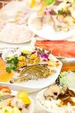 中国热的罐食物集合 库存图片
