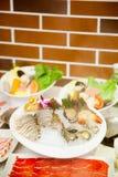 中国热的罐食物集合 免版税库存图片