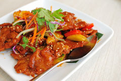中国烹调猪肉酸甜素食主义者 免版税库存图片